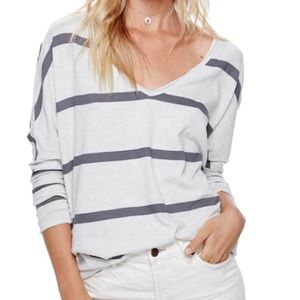 Free People Upstate tee in neutral and gray